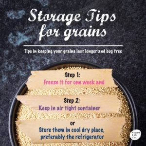 quinoa storage tips