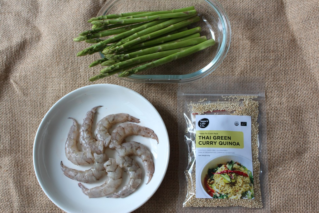 Thai Green Curry Quinoa with Grilled Prawns and Asparagus - Ingredients 3